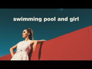 swimming pool and girl
