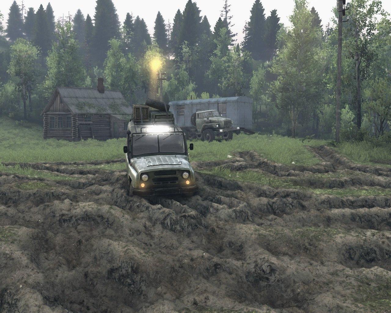 """Карта """"Лесные горные дороги V-2"""" версии игры 13.04.15 для Spintires - Скриншот 1"""