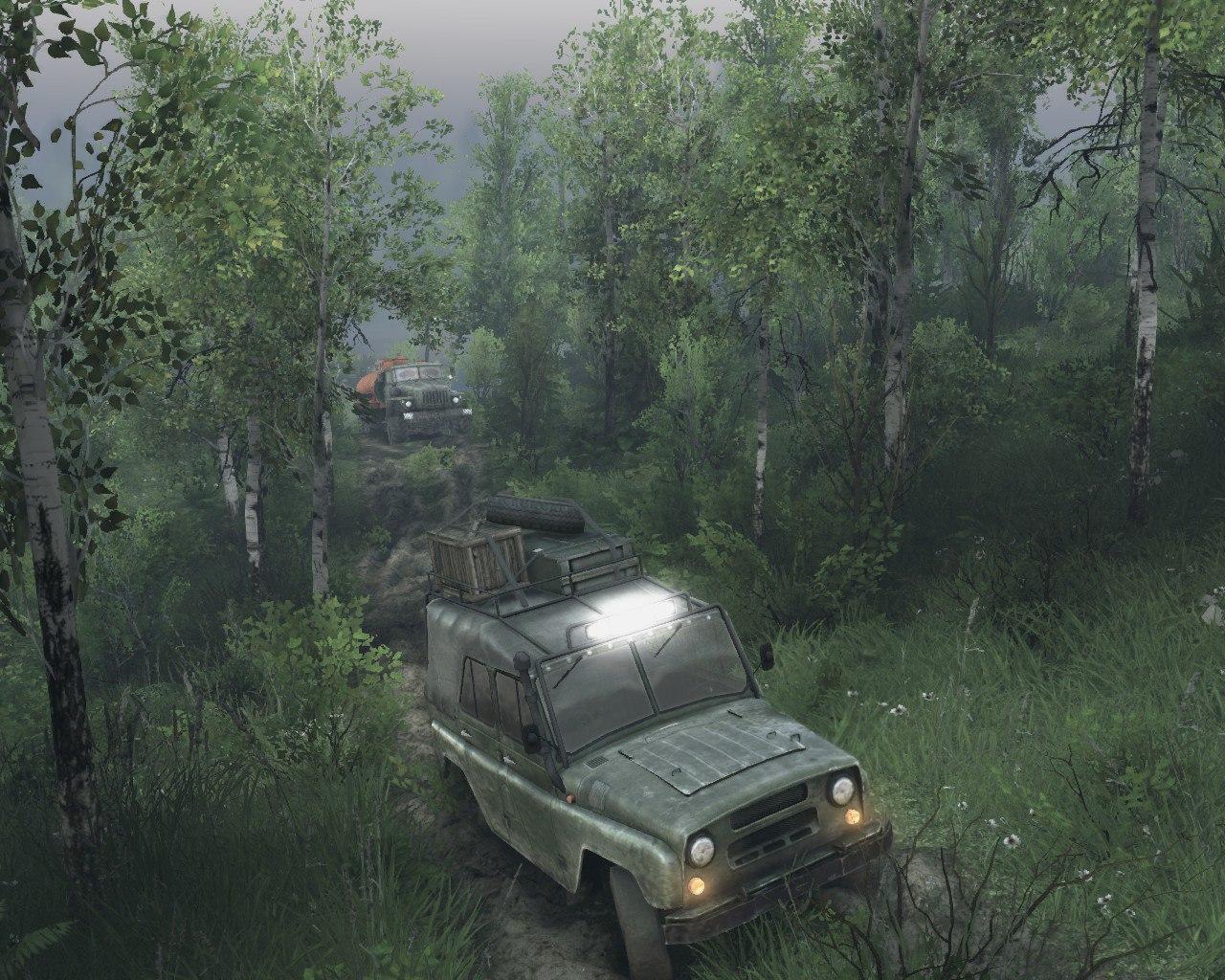 """Карта """"Лесные горные дороги V-2"""" версии игры 13.04.15 для Spintires - Скриншот 2"""