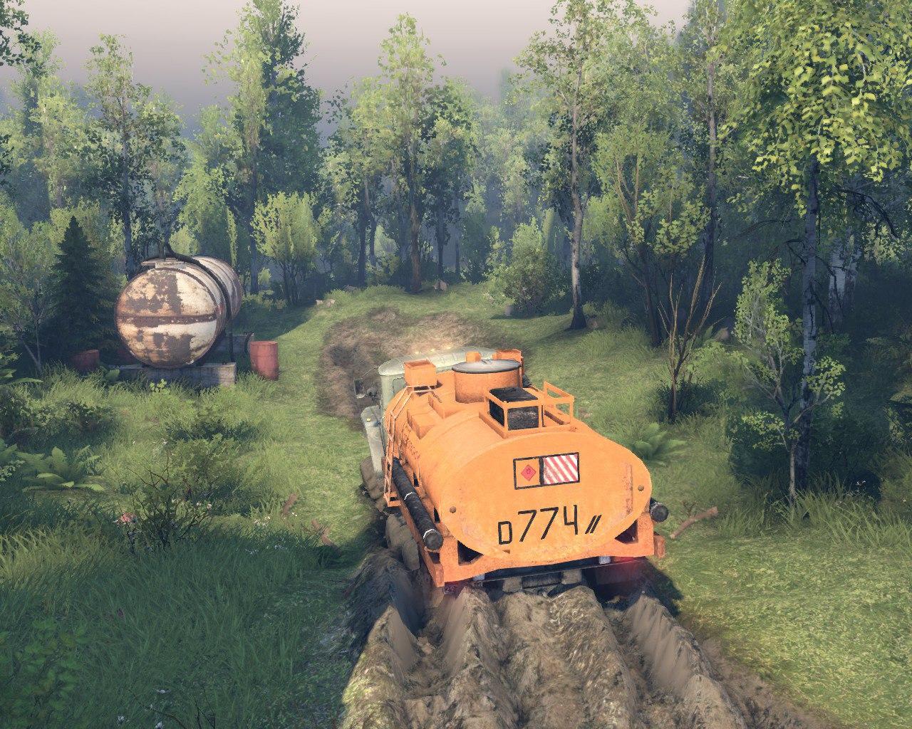 """Карта """"Лесные горные дороги V-2"""" версии игры 13.04.15 для Spintires - Скриншот 3"""