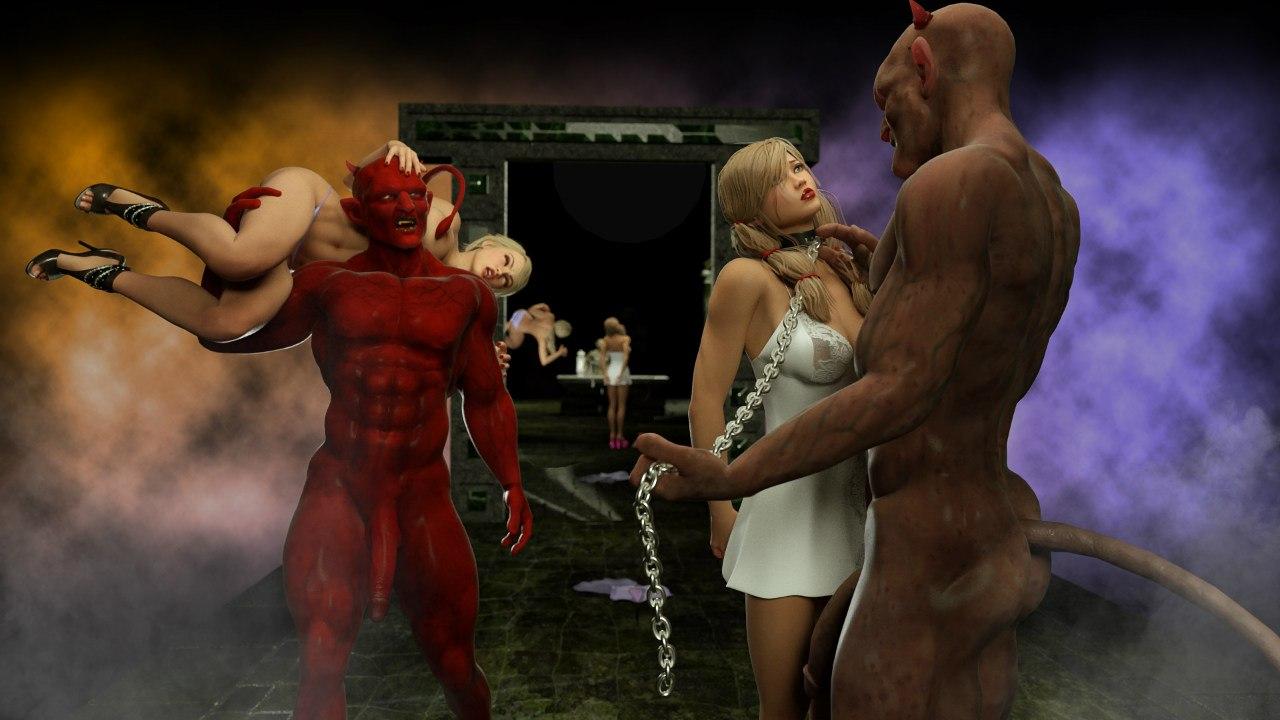 Фото монстры демоны трахают тёлок