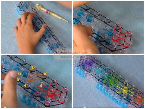 Плетение фенечки из резинок мастер класс
