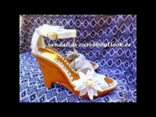 Sandalias tejidas en Crochet  D'  Carol