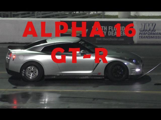 GT-R Alpha 16 Runs 8.7 @ 155mph - Drag Racing the 1/4 Mile