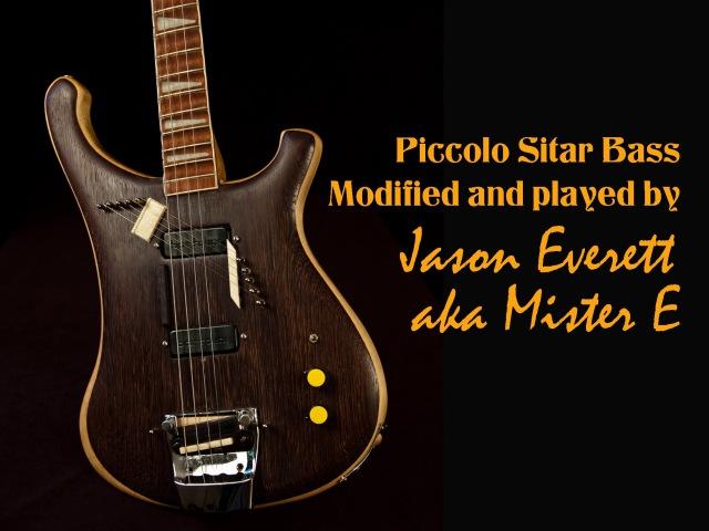 Rickenbacker Piccolo Sitar Bass modified and played by Jason Everett aka Mister E