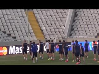 Видео открытой тренировки ФК 'Астана' на Кипре перед матчем с АПОЭЛом