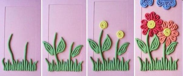 Цветы из пластилина своими руками видео