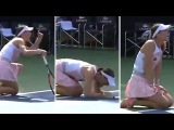 Andrea Petkovic's Full Scale Tennis Temper Tantrum In Dubai