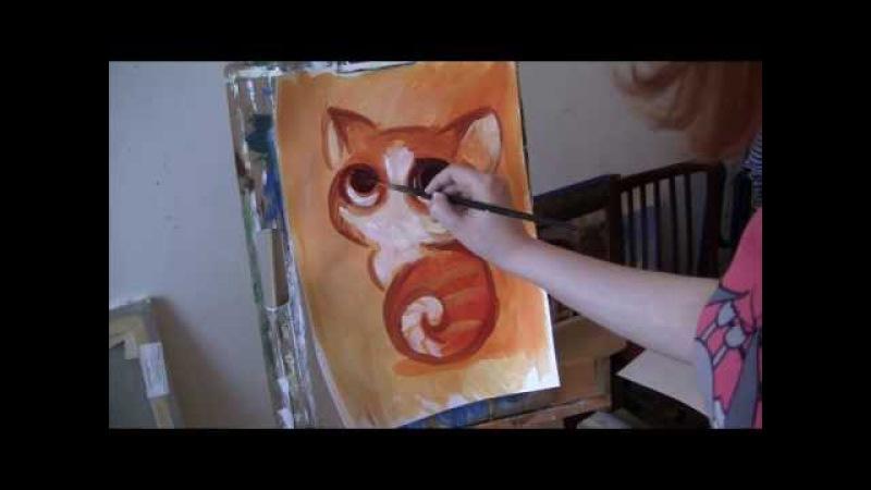 Урок живопись акриловыми красками Люба Дикер