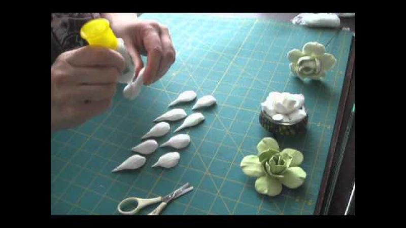Цветы из самозастывающей полимерной глины