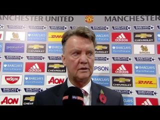 """Комментарии Мануэля Пеллегрини и Луи ван Гала после матча """"Манчестер Юнайтед"""" и """"Манчестер Сити"""" в сегодняшнем дерби Манчестера."""