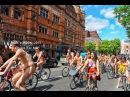 Ежегодный Велопарад нудистов в Лондоне.WORLD NAKED BIKE RIDE - LONDON 2013 - FULL COVERAGE