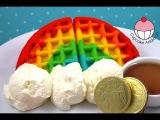 How to Make RAINBOW WAFFLES! Easy Rainbow Waffle Recipe by Cupcake Addiction