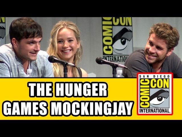 The Hunger Games Mockingjay Part 2 Comic Con Panel - Jennifer Lawrence, Josh Hutcherson Cast