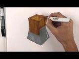 Видеоурок по созданию текстуры дерева. Рисуем текстуру дерева маркерами