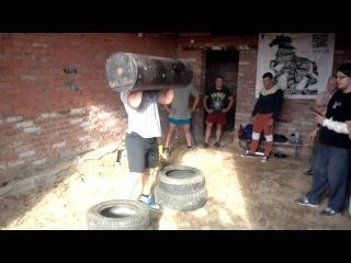 Феллер А Тренировка Лог Лифт 80 кг на 4 повторения 26 июля 2015