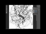 Mark Brooks Speed Art- Spider-man vs.Green Goblin step 1