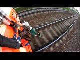 Опасные трюки на крышах, башенных кранах, поездах