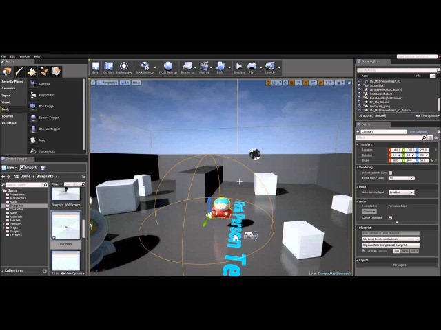 UE4 Tutorial - Audio (Props with Sound)