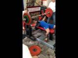 Роман Еремашвили, русский жим 100 кг на 43 повторения с. в.  74 кг!