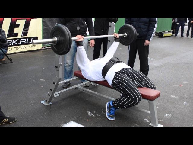 Богатыри Томской Губернии - 2012 Русский жим 100 кг на 12 повтрений - Диденко М_ 16-09-12