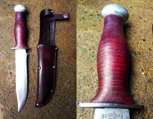 Рукоять на нож из оргстекла своими руками 27