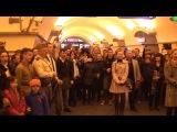 Флешмоб Победы в метро Невский проспект 9 мая 2014 года (Хор Русской Армии)