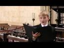 King's College Chapel - Bach, Händel, Mozart - boy soprano Aksel Rykkvin (12y)