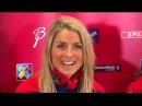 Тереза Йохауг на пресс-конференции перед скиатлоном - VM Falun 2015
