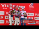 Тереза Йохауг, Астрид Якобсен, Харлотт Калла - цветочная церемония скиатлон - Чемпионат мира 2015, Фалун - VM Falun 2015