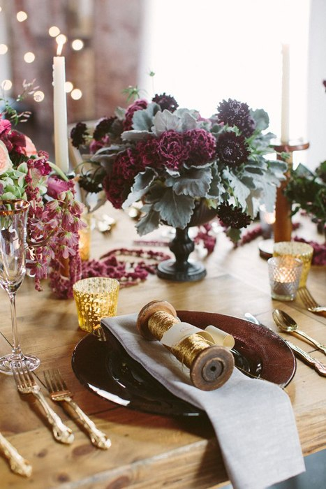 праздничный стол в стиле бохо