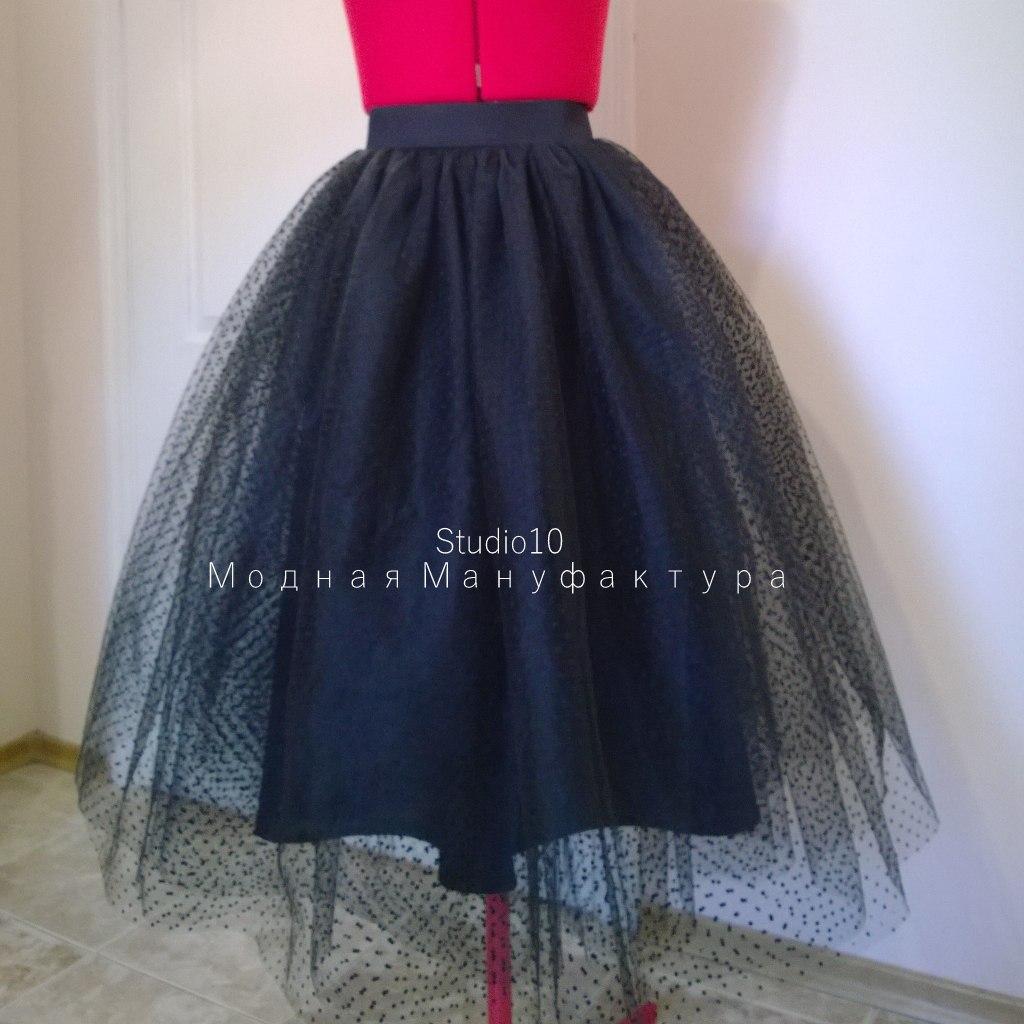 Как сшить многослойную юбку из органзы 53