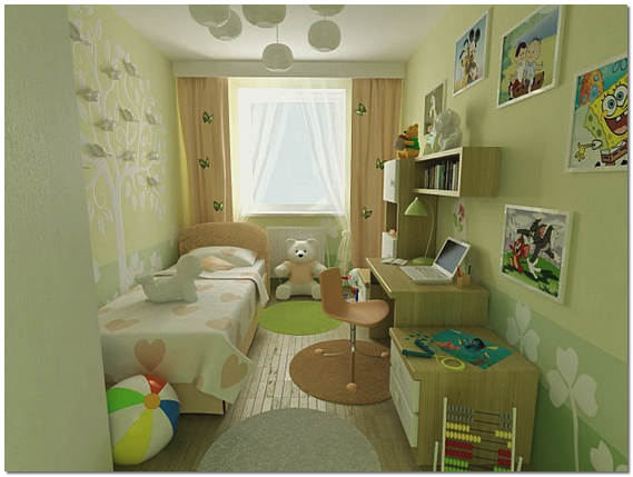 Дизайн маленькой детской фото