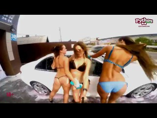 Автомойка сексуальными девушками Part 1