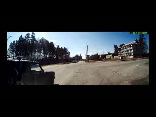 Наглое нарушение движения по полосам - Снежинск 28 апреля 2015