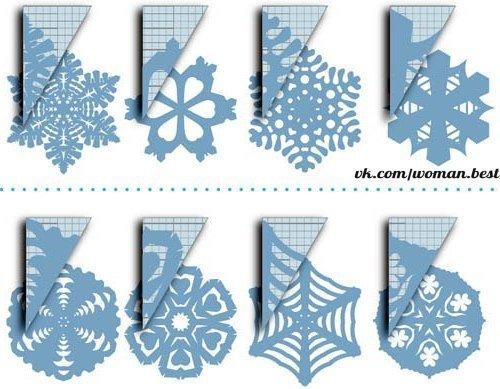 СНЕЖИНКИ ИЗ БУМАГИ. СХЕМЫ ❄❄ Сохраняйте ✔ Для изготовления снежинок из бумаги вам понадобятся: 🔹 Бумага. Можно брать любых цветов, но надо выбирать такую, чтобы можно было легко сложить в несколько раз и в сложенном виде она резалась ножницами не прилагая значительных усилий. Иначе снежинка получится асимметричная. 🔹 Инструмент для резки. Очень хорошо подходят парикмахерские ножницы. Кроме этого могут пригодиться маленькие ножницы (маникюрные) для более тонкой работы. 🔹 Инструмент для…