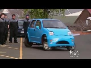 Машина делает параллельную парковку - Prototype vehicle makes parallel parking easy