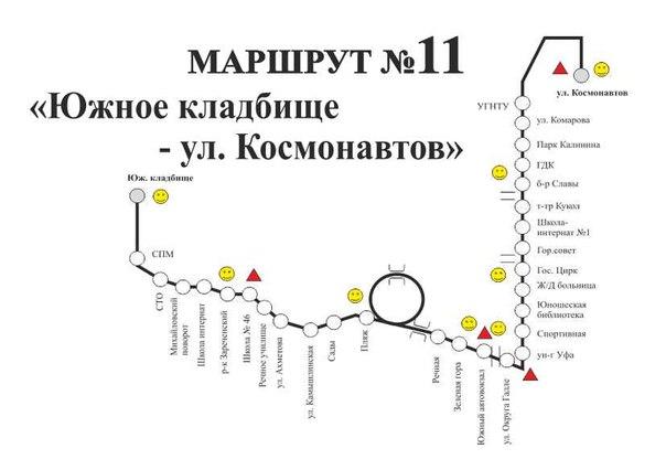 Схема движения автобусов на