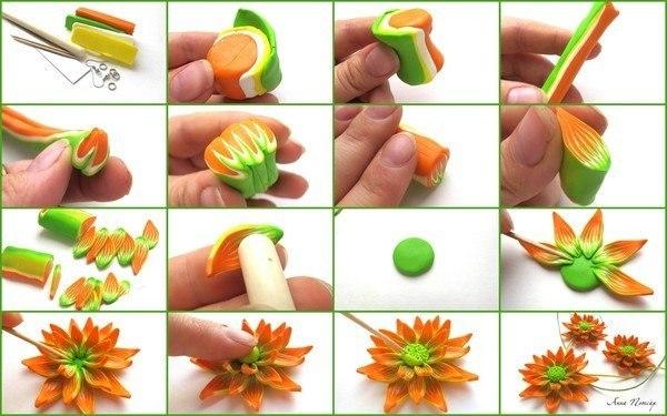 Цветок из полимерной глины (1 фото) - картинка