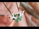 DIY: Flowery Antler Necklace Polymer Clay Tutorial