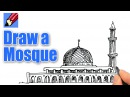 How to draw a Mosque Real Easy