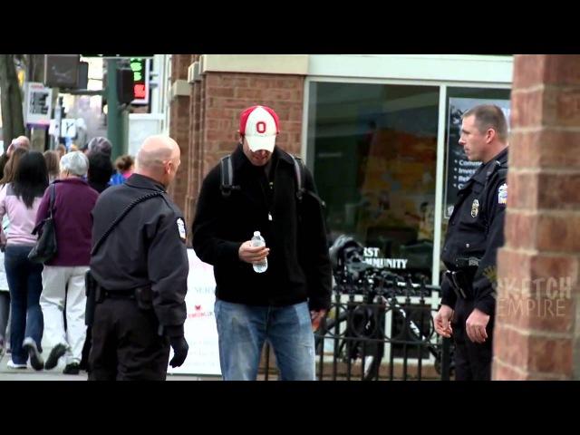 Облом копов - Бутылка воды / Cops Get Owned - Epic Pee Prank (RUS)