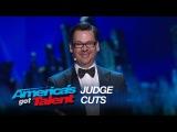 Derek Hughes: Funny Magician Practices Mental Telepathy - America's Got Talent 2015