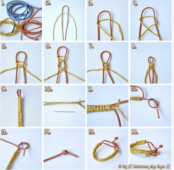 Плетение на браслетах