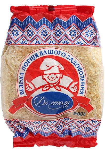 Рис довгозернистий пропарений, До столу, 900 г