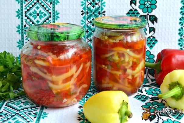 Вкусный болгарский перец на зиму Совершенно простой рецепт заготовки из сладкого болгарского перца на зиму. Очень вкусно! Из данного количества продуктов получится 2 пол-литровые баночки перца.