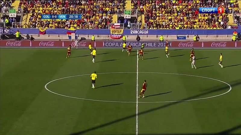 Copa America 2015 Game 5 - Group C - Colombia vs Venezuela 1st half - 720p 50fps