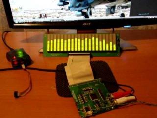 Arduino spectrum analyzer for music to colourful