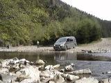 Карпаты. Горная речка. Hyundai H200.