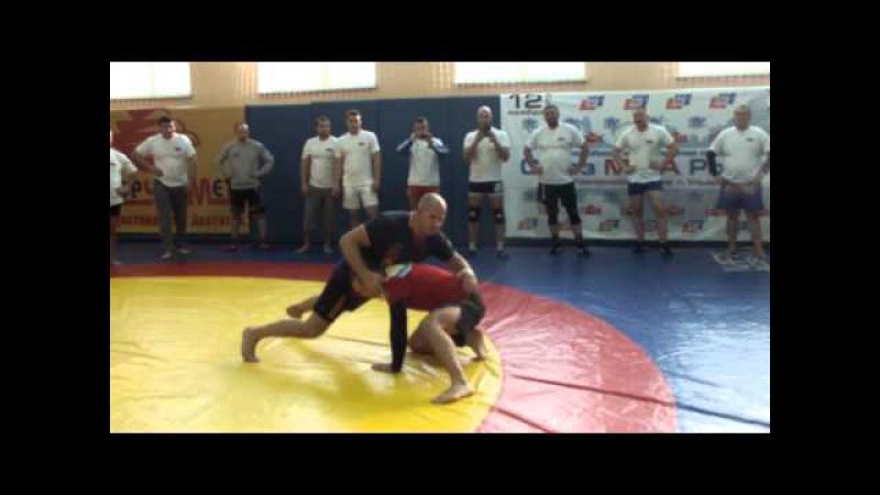 Семинар Федора Емельяненко. Проход в ноги и защита от него (takedown defence by Fedor)